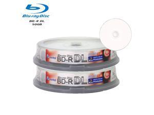 Smartbuy 6X BD-R DL 50GB Dual Layer White Inkjet Hub Printable Video Audio Photo Data Recordable Disc (20 Packs)