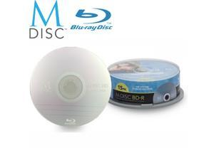 15 Pack Millenniata M-Disc BD-R 25GB 4X HD 1000 Year Permanent Data Archival / Backup Blank Media Recordable Disc