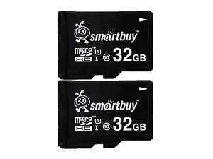 Smartbuy Micro SDHC Class 10 TF Flash Memory Card SD HC C10 Ultra U1 UHS-I HD Fast Speed for Camera Mobile Phone Tab GPS MP3 TV (32GB - 2 Packs)