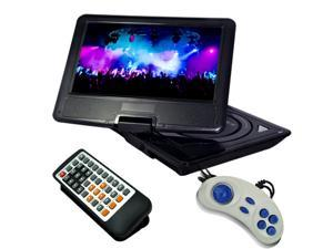 "Buyee 9.5"" Swivel Screen Handheld Portable DVD Player Remote Car Adapter DVD VCD Cd Sd Mp3 Mp4 USB Tv Game in Car Car Adapter."