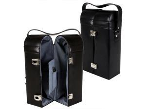 York Leather Double-Bottle Wine Carrier (MSRP:$70)