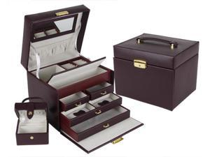 Swarthmore Leather Jewelry Box w/ 4-Drawers (MSRP:$200)