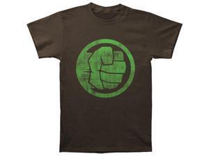 Incredible Hulk Men's Fist Bump Slim Fit T-shirt Medium Coal
