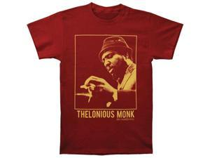 Thelonious Monk Men's Portrait Vintage T-shirt Small Crimson