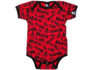 Misfits Baby Boys' All Over Print Bodysuit 0 - 3 Months Red
