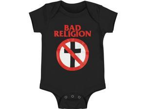 Bad Religion Baby Boys' Crossbuster Bodysuit Newborn Black