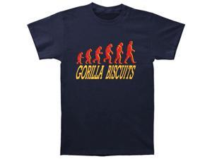 Gorilla Biscuits Men's Start Today T-shirt Small Blue