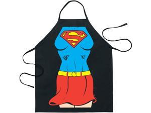 Superman Supergirl Apron Black