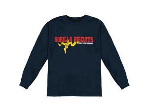 Gorilla Biscuits Men's Hold Your Ground  Long Sleeve Medium Black