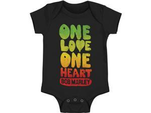 Bob Marley Baby Boys' One Love Bodysuit 3 - 6 Months Black