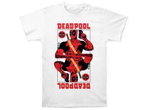 Deadpool Men's Wild Card Slim Fit T-shirt Large White