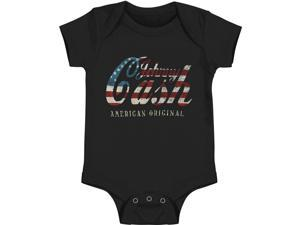 Johnny Cash Baby Boys' Logo Bodysuit 12 - 18 Months Black