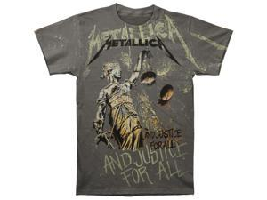 Metallica Men's Justice Neon Allover T-shirt XX-Large Charcoal