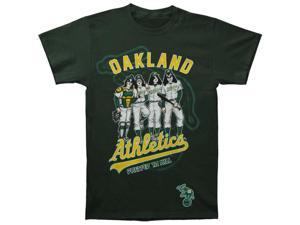 KISS Men's Oakland Athletics Dressed To Kill T-shirt Large Green