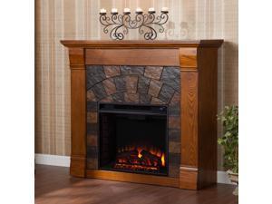 Albany Electric Fireplace - Salem Antique Oak