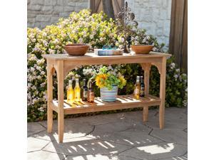 Castine Teak Console Table - Unstained