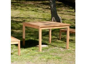 Amagansett Teak Dining Table - Unstained