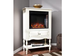 Terracina Fireplace Tower - Antique White