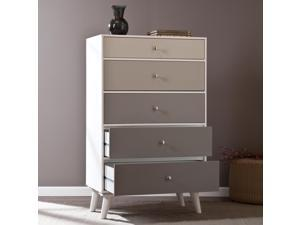 Corby Colorblock 5-Drawer Anywhere Storage Cabinet - Grayscale