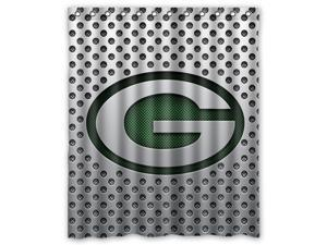 "Green Bay Packers 08 Pattern Polyester Fabric Shower Curtain, 60"" By 72"""