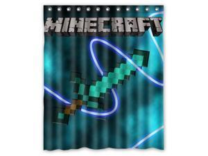 """Hot Game Minecraft 09 Pattern Polyester Fabric Shower Curtain, 60"""" By 72"""""""