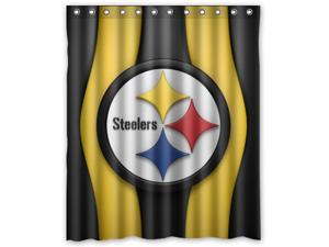 """Pittsburgh Steelers 04 Pattern Polyester Fabric Shower Curtain, 60"""" By 72"""""""