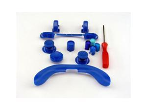 Xbox 360 Controller Custom Mod Kit - BLUE - Thumbsticks, Dpad, RB LB, ABXY, Trim, Triggers, Guide, T8 Security Driver