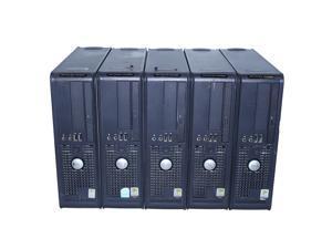 Lot of 5 Dell OptiPlex GX520 SFF P4 1GB (512x2) PC 80GB HD CD No OS