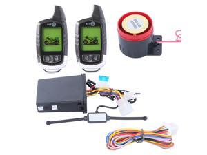 Power function! 2 way motorcycle alarm kit remote engine start, auto re-arm and illegal ACC ON start alarm, shocking warning