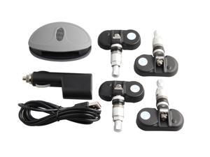 Good quality SPY tire pressure monitor system with wireless TPMS Bluetooth, rechargeable color digits display DC12V