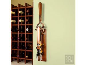 BOJ Wall-mounted Corkscrew Old Coppered & Wood Backing