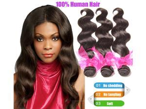 Malaysian virgin hair body wave 6A 100% virgin human hair hair products 3 pcs/lot