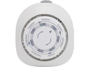 GE 15151 7-Day Mechanical Polarized 1-Outlet Plug-in Timer