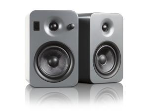 Kanto YUMIGRY Powered Bookshelf Speakers with Bluetooth Technology (Matte Grey)