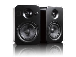 Kanto YUMIBLK Powered Bookshelf Speakers with Bluetooth Technology (Matte Black)