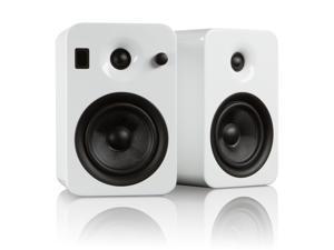Kanto YUMIWHTGL Powered Bookshelf Speakers with Bluetooth Technology (Gloss White Ice)
