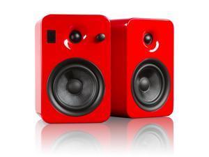 Kanto YUMIREDGL Powered Bookshelf Speakers with Bluetooth Technology (Gloss Red Scarlet)