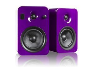 Kanto YUMIPURGL Powered Bookshelf Speakers with Bluetooth Technology (Gloss Purple Orchid)