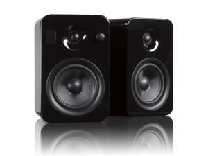 Kanto YUMIBLKGL Powered Bookshelf Speakers with Bluetooth Technology (Gloss Black Obsidian)