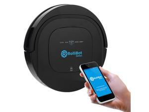 Rollibot Genius - The First automatic Robot Vacuum and Wet Mopping UV Cleaner for BOTH Carpet and Hardwood floors&#59; Wi-Fi enabled (BL-800)