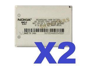 2 FOR 1 NOKIA OEM BMC-3 Cellphone Battery for 3300 Series Phones