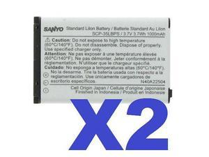 2 FOR 1 SANYO OEM SCP-35LBPS Cellphone Battery for Mirro