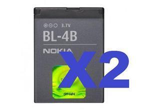 2x New Nokia BL-4B OEM Battery 2660 2605 2760 6111 7500 7373 2600 7510 N76