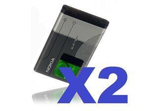 2x NEW OEM NOKIA BL-4C BATTERY for 6300 1661 7705 6131 6101 6126 3500 6102i 6301
