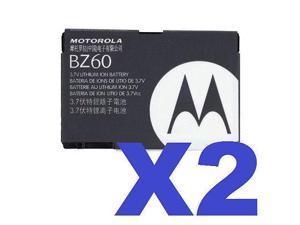 2x Motorola BZ60 OEM Battery for RAZR V3 V3a V3c V3i V3xx V3m V3t V6 MAXX PEBL