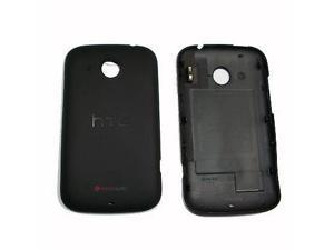 Back Case Battery Rear Faceplate Cover Black For HTC A320e Desire C OEM