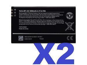2x Nokia OEM Battery BP4W BP-4W for Lumia 810 822 1800mAh Verizon & T-Mobile