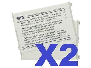 2x OEM SANYO SCP-25LBPS BATTERY FOR SCP-3200 SPRINT