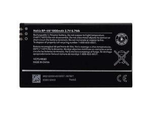 Nokia OEM BP-4W Li-Polymer Battery for Nokia 810 822 Lumia 4G 1800mAh 6.7Wh