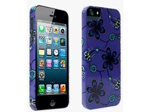 PopnGo Paisley Floral Hard Case Cover for iPhone 5/5s - Purple